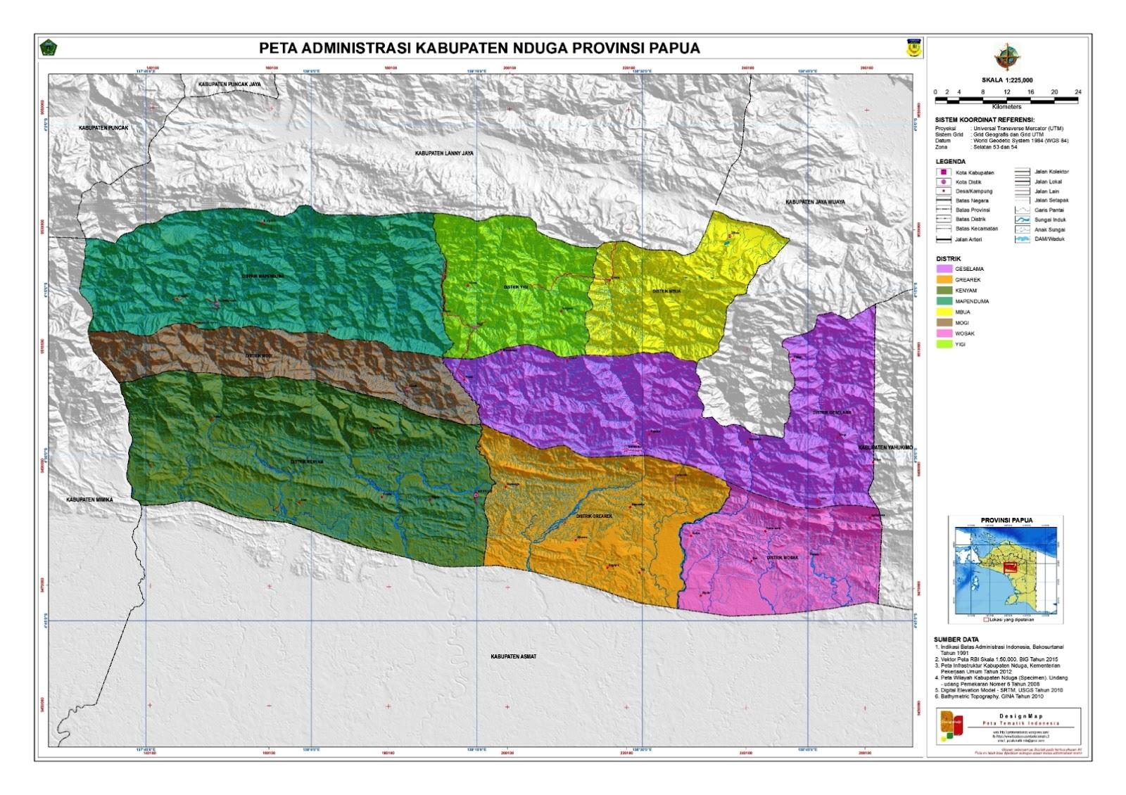 Peta Kota: Peta Kabupaten Nduga