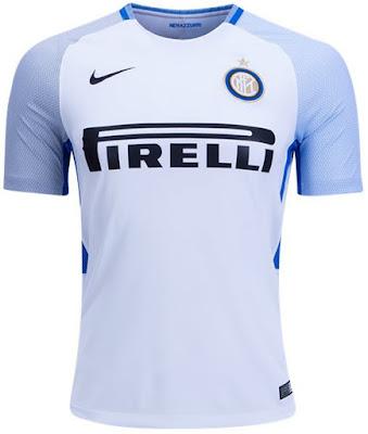 Nike Inter Milan 1718 Away Stadium SS Shirt - White Black