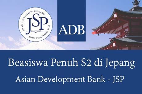 Beasiswa S2 Jepang 2020 dari ADB-JSP