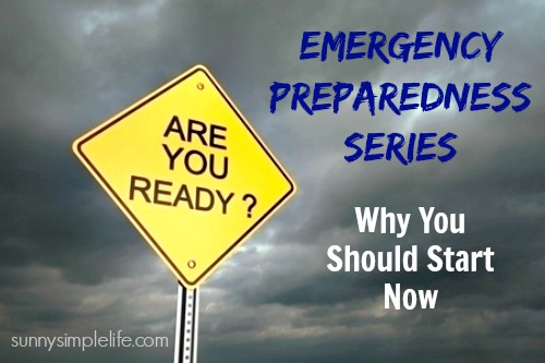 why you should start preparing for emergencies