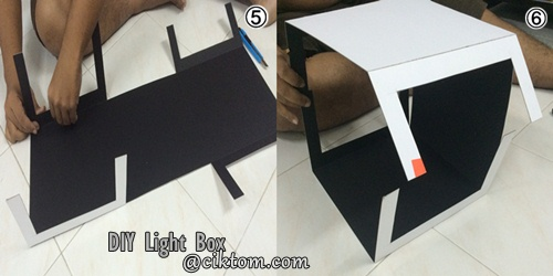 cara buat light box