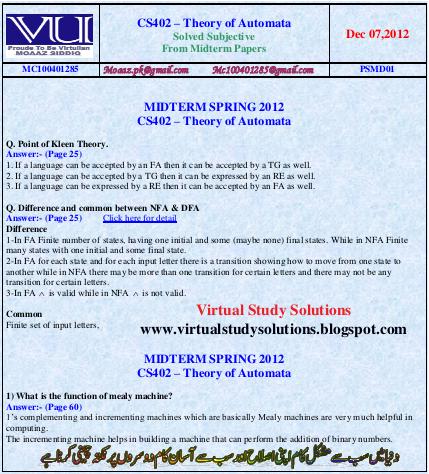 cs402 final term paper 2013