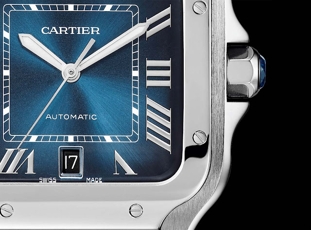 Santos de Cartier with gradient blue dial (ref. WSSA0013)