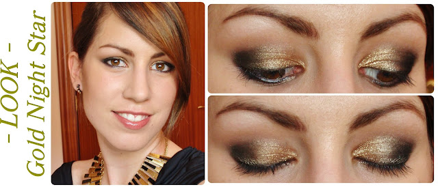 Rubibeauty tutorial makeup look maquillaje noche gold night star paso a paso