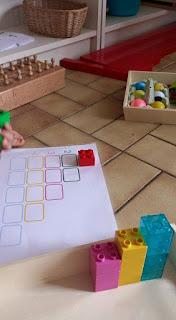Activité de numération avec des blocs duplos