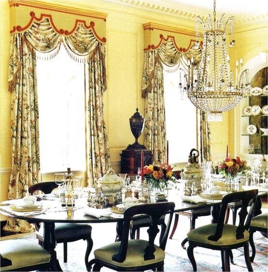 Yellow Dining Rooms: Sybaritic Spaces: Yellow Dining Rooms