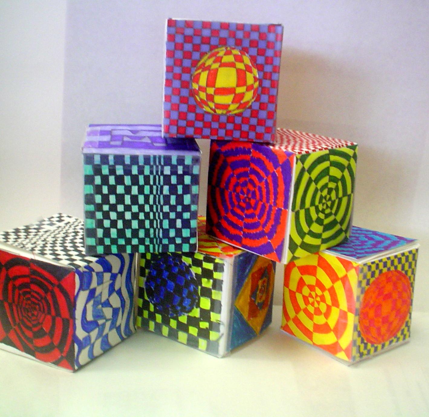Art With Mrs Garrett Op Art Cubes