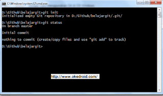 git status command prompt windows