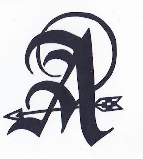 """切り絵初心者向け無料図案 アルファベットシリーズ """"A"""""""