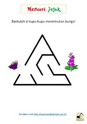 Mencari Jejak: Bantulah Si Kupu-Kupu Menemukan Bunga!