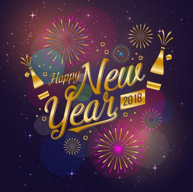 moderne-gelukkig-nieuwjaar-2018-viering-kaart