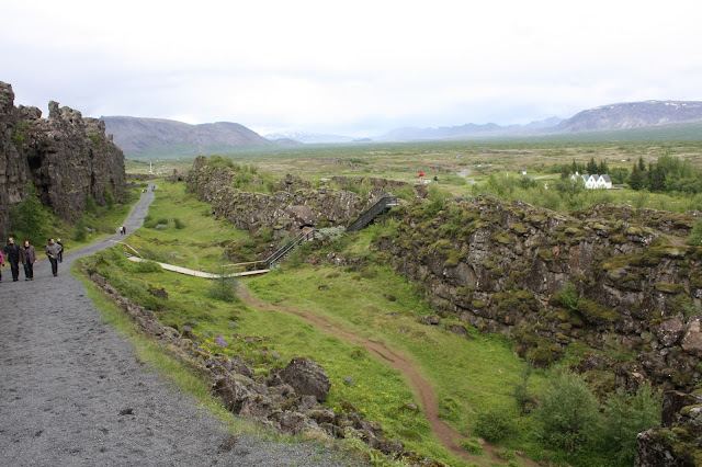 Amazing landscape at Thingvellir naturally crafted by volcanoes, glaciers and rifting.