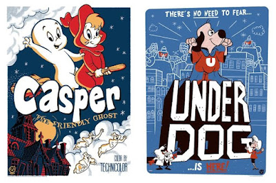 Casper the Friendly Ghost & Underdog Screen Prints by Ian Glaubinger x Mad Duck Posters
