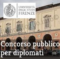 concorso pubblico per diplomati universita firenze marzo 2018