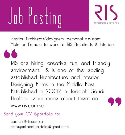 Job Posting Ladies Gentlemen Interior Designarchitect Personal Assistant