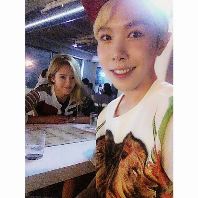 [Pictures] 140831 SNSD Hyoyeon Selca with Key Joon ...  [Pictures] 1408...