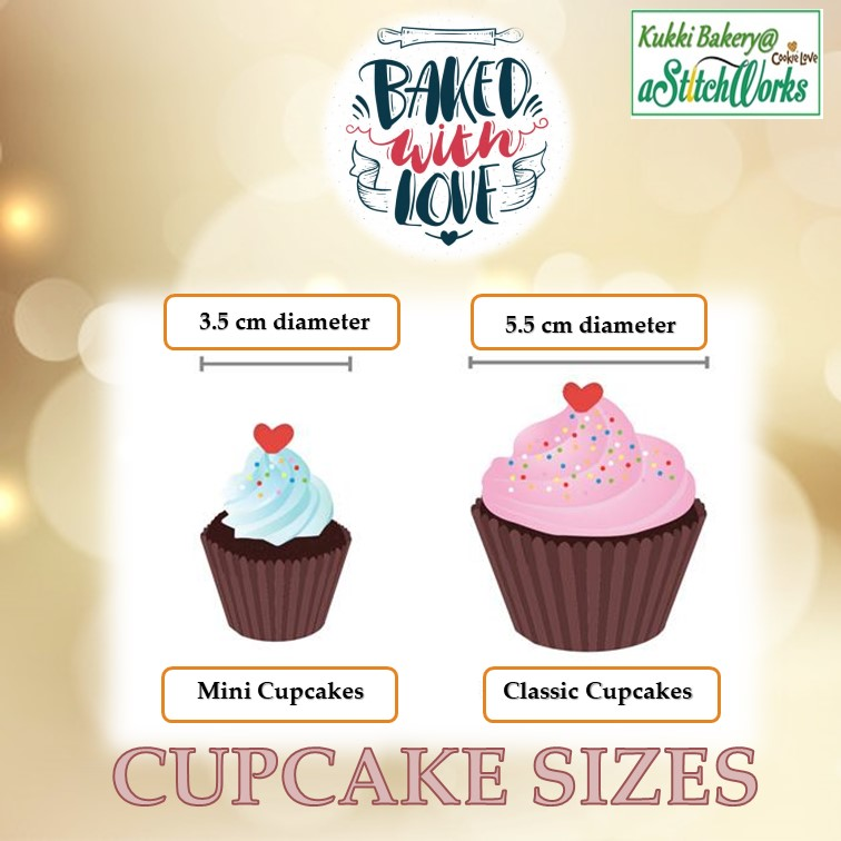 Cupcakes Size