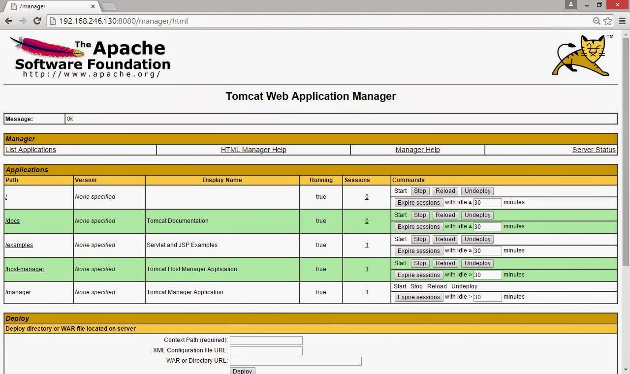 apache tomcat debian gerenciamento web