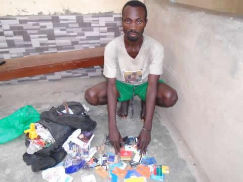 mad man arrested stolen atm cards