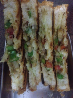 Capsicum Onion Cheese sandwich