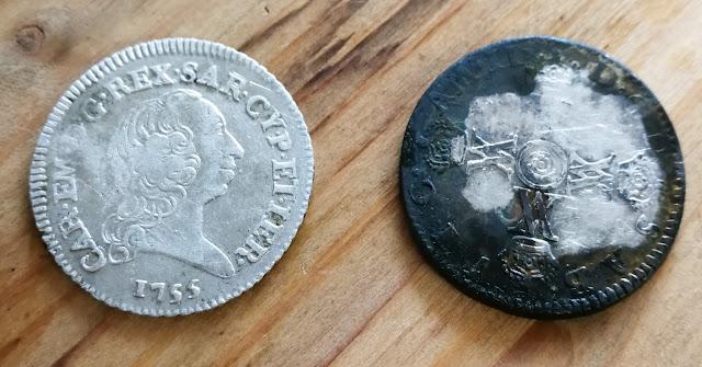 pulizia moneta argento argenteria cleaning silver succo limone bicarbonato elettrolisi a freddo