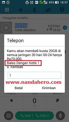 lagi memberikan promo menarik untuk penggunanya Paket Internet 3 Tri Murah 20GB Harga Rp70.000 Bulanan (00-24)