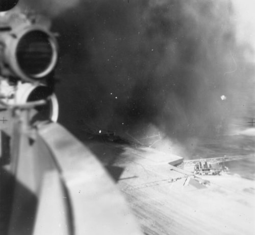 10 January 1941 worldwartwo.filminspector.com HMS Illustrious bomb damage