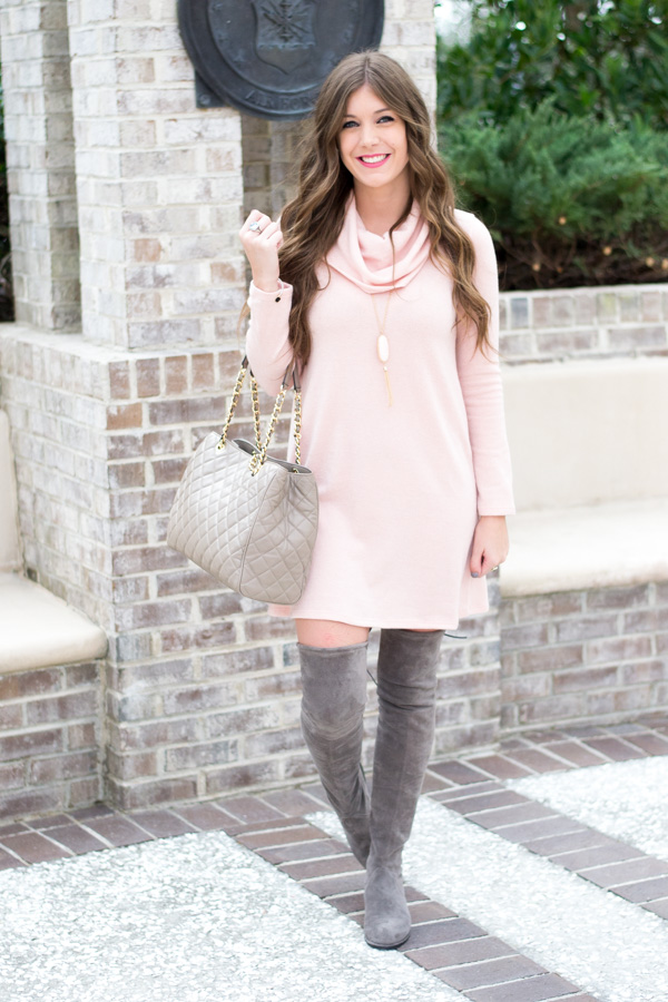 Blush and Grey Valentine's Outfit