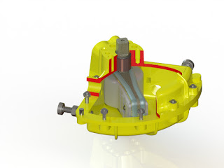 Internal view of vane actuator