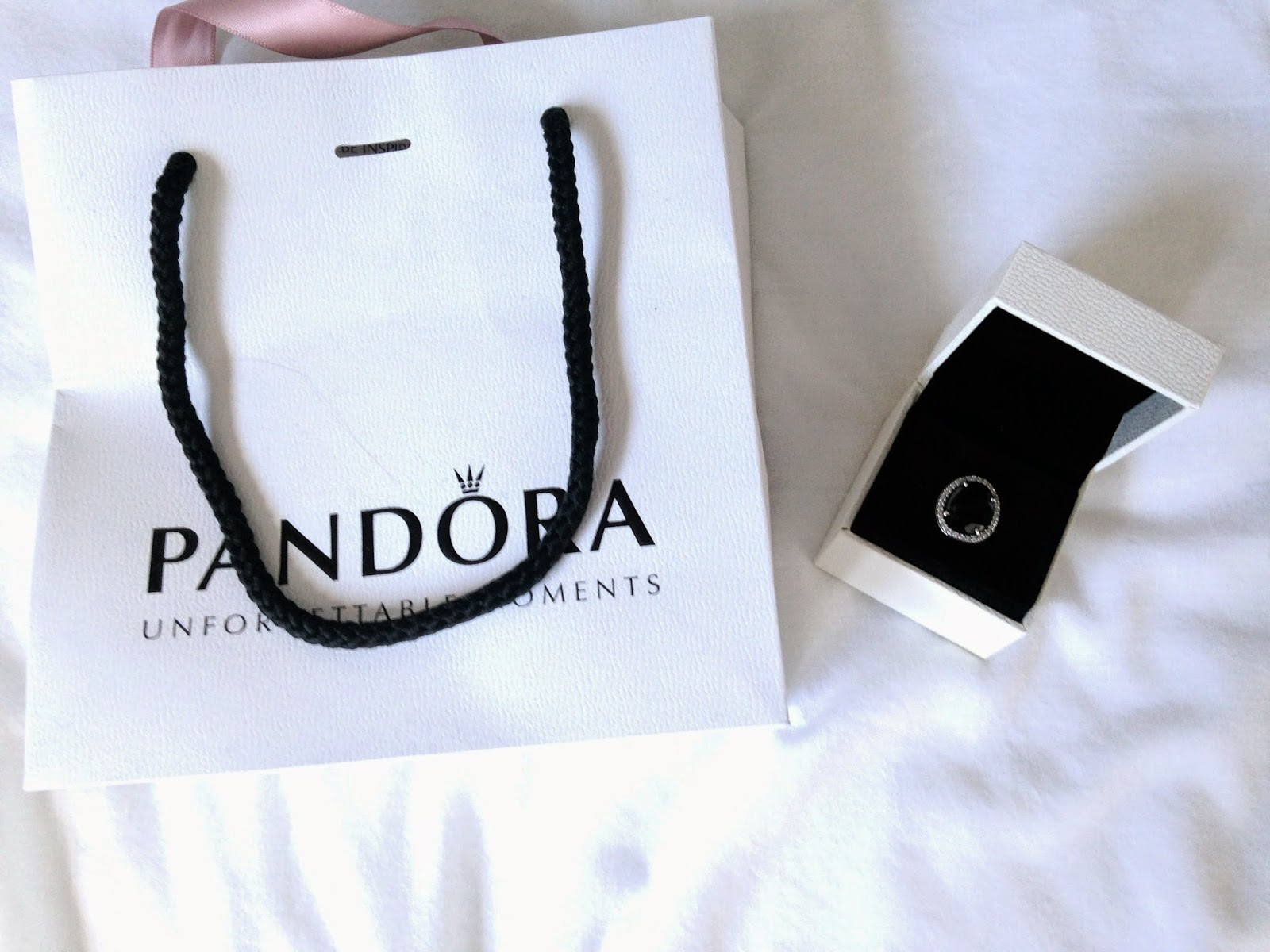 New In // Pandora Statement Black Spinel Ring