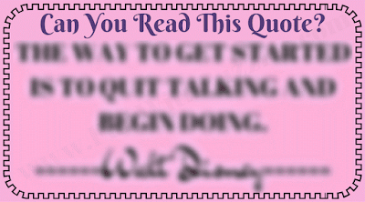 Blurred Quote Reading Challenge