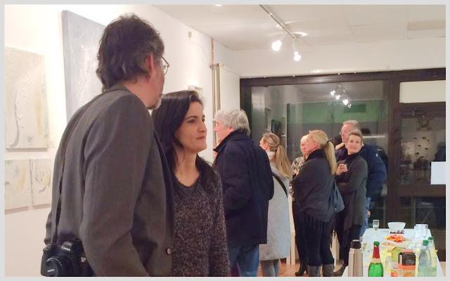 Anna Pianka bei Vernissage von Birgit Boden