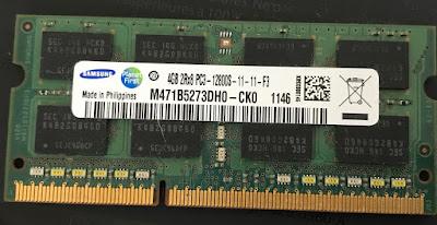 Samsung 4GB 2Rx8 PC3-12800S-11-11-F3