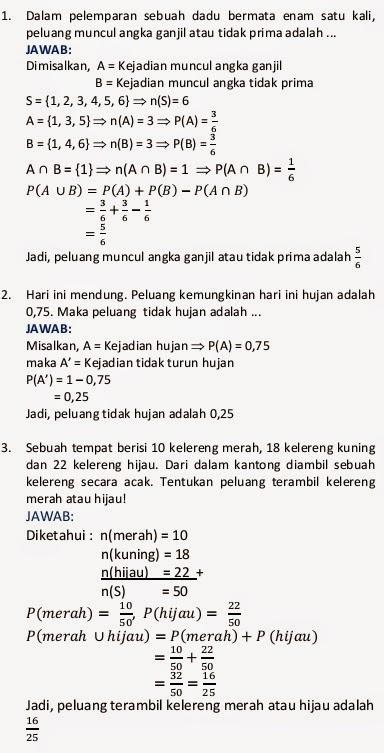 Pembahasan Materi Kejadian Majemuk, Matematika