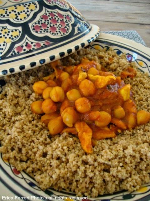 Ricetta Cous Cous alla marocchina con ceci e pollo