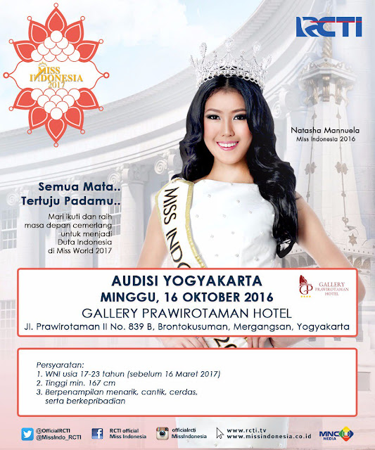 Audisi Miss Indonesia 2017 di Yogyakarta