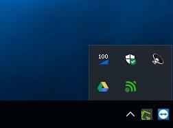 Icona nella barra di sistema