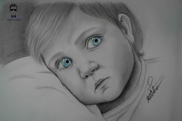 تعلم رسم طفل بالرصاص خطوة بخطوة