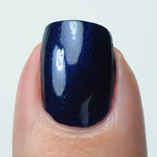 navy blue nail polish swatch