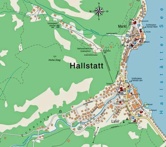 Hallstatt Map, Austria