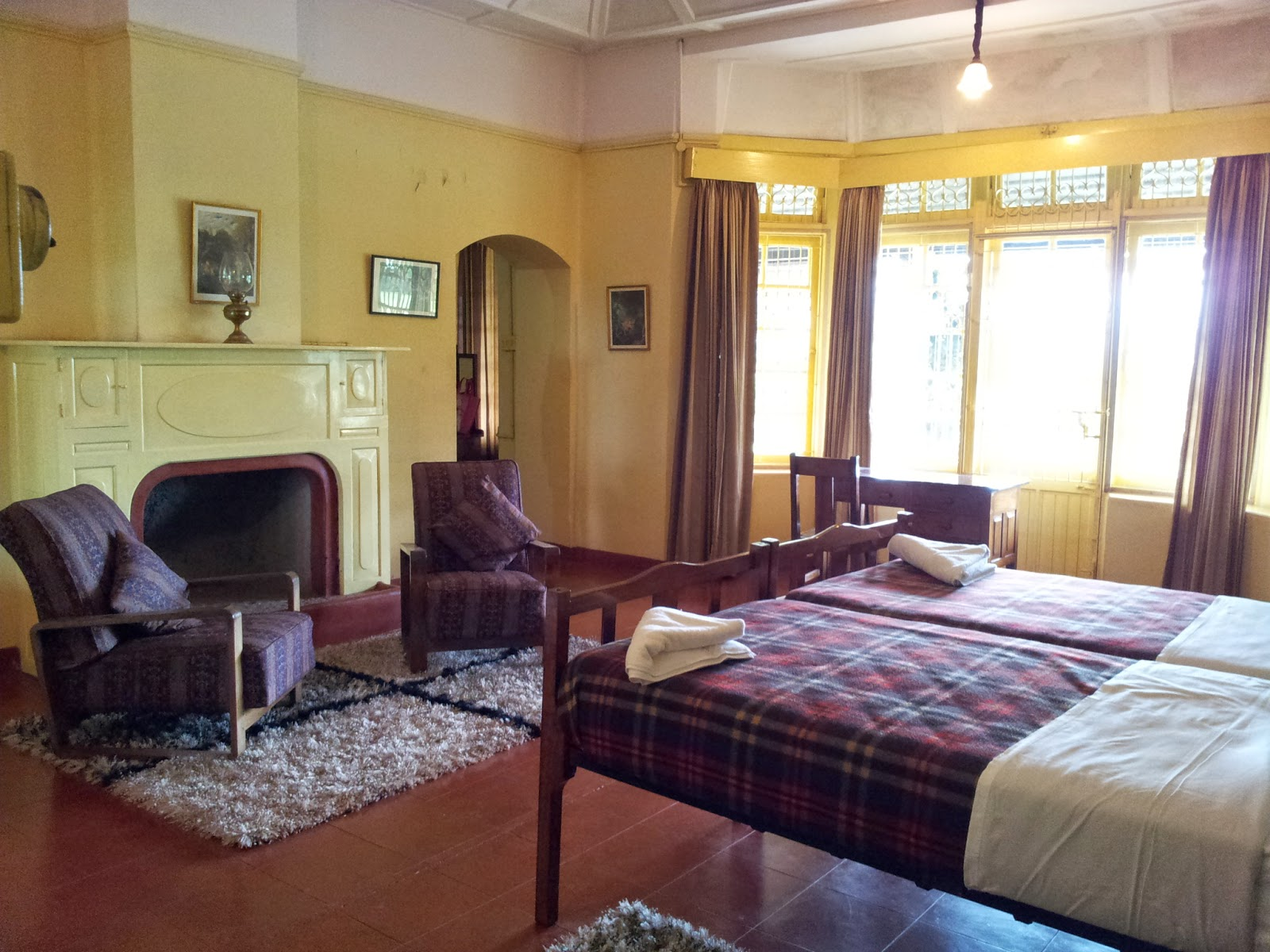 Well-appointed and spacious rooms at Stanmore Bungalow, Valparai