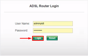 pldt login router