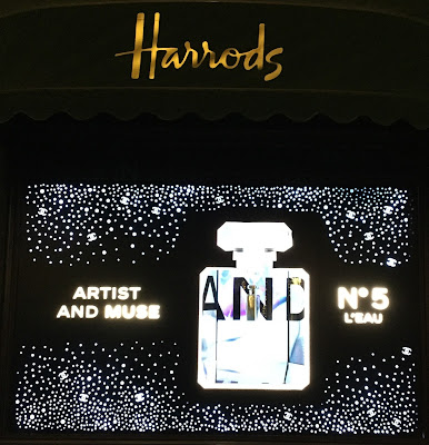 Pic of Chanel No. 5's Artist and Muse Window at Harrods