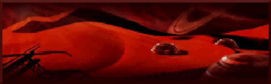 Infinite Space - Banner desierto rojo