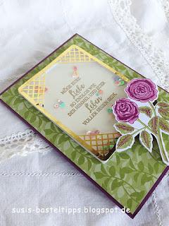 """Glückwunschkarte zur Hochzeit mit dem Stampin' Up! Kartensortiment """"Erinnerungen und mehr"""" Blumengarten"""