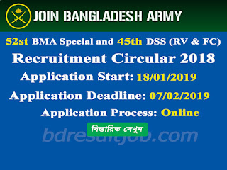 BMA Engineers Course Cadet Recruitment Circular 2019