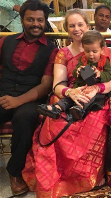 Gururaj Jaggesh with wife Katie Pyle