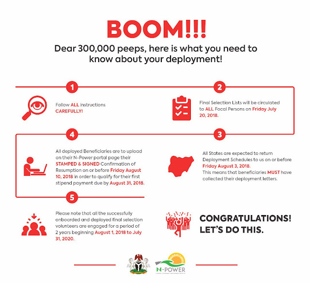 N-POWER ANNOUNCES DEPLOYMENT OF ITS  2017 BENEFICIARIES - POINTS | DATELINES