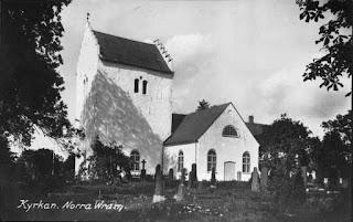 Church (Kyrke) in Norra Vram where Gösta Caroli was born and his father, Claes Alfred Caroli was Vicar from 1901. (Swedish National Heritage Board [Public domain], via Wikimedia Commons)