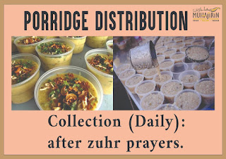 Source: Muhajirin Mosque Facebook. Porridge distribution.